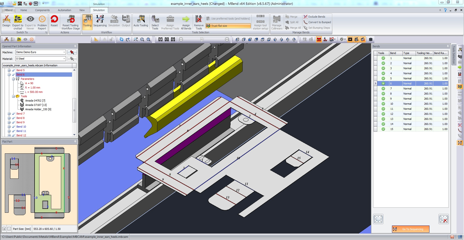 Transfer of Sheet Metal Files from MTube in MBend