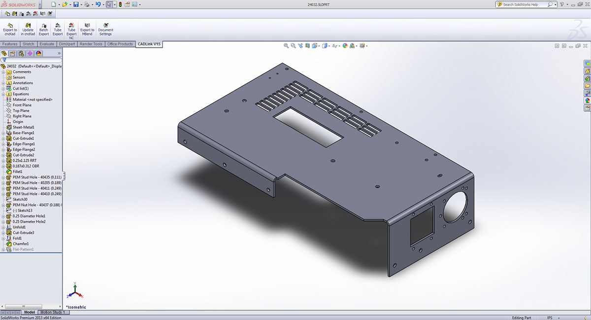 3D CAD Integration Solution: CAD Link, cncKad and MBend
