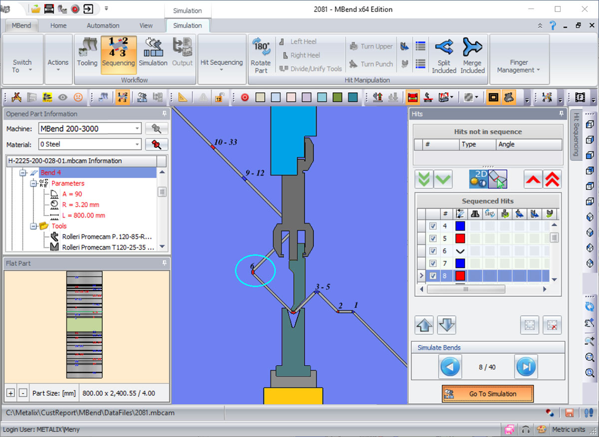 Press Brakes Solution partial bends
